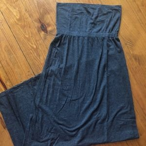 Splendid Dresses - Splendid Dark Gray Strapless Maxi Dress M